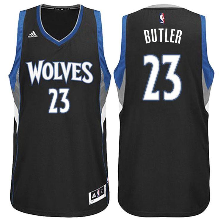 huge discount cf7c9 0d6a9 Minnesota Timberwolves #23 Jimmy Butler Alternate Black New ...