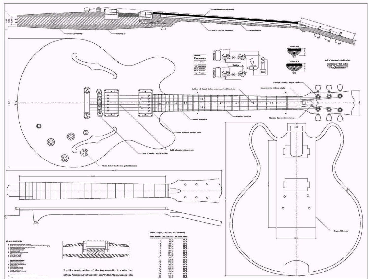 Dovetail template printable guitar - Electric Guitar Designs Google Search