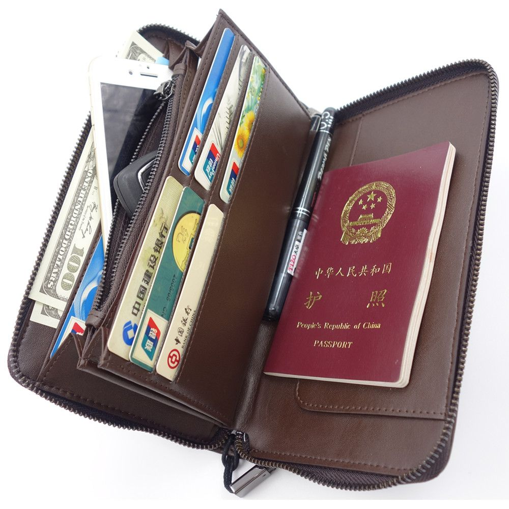 Men Passport Wallet +Passport Holder +Business Card Holder +Leather ...