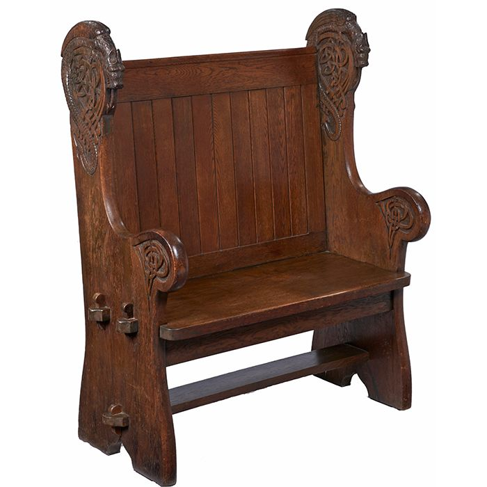 Swell Arts Crafts Hall Bench International Viking Style Slab Bralicious Painted Fabric Chair Ideas Braliciousco