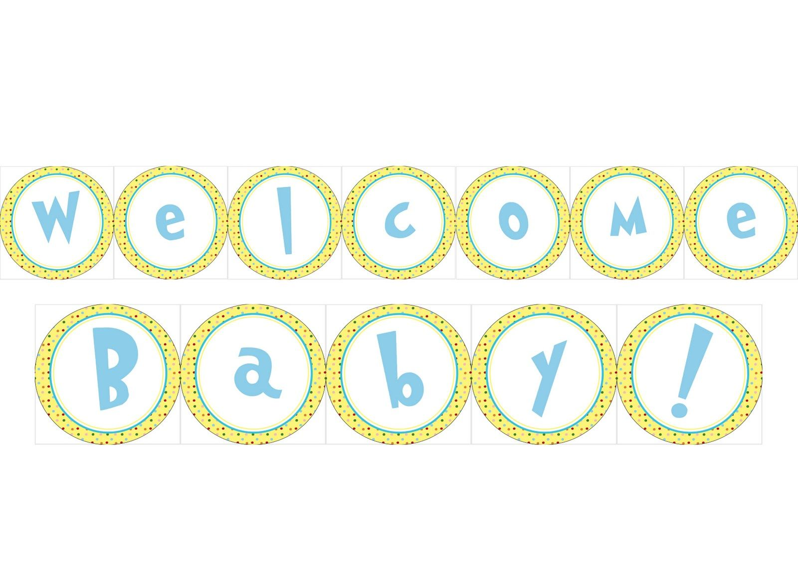 photo about Welcome Baby Banner Free Printable known as My Paper lily: Absolutely free Printable Dr. Seuss child shower Little one