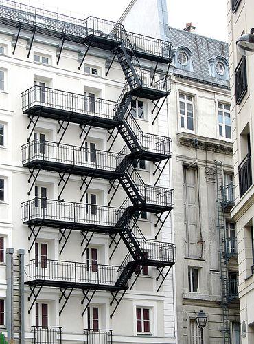 Rare In Paris A Fire Escape