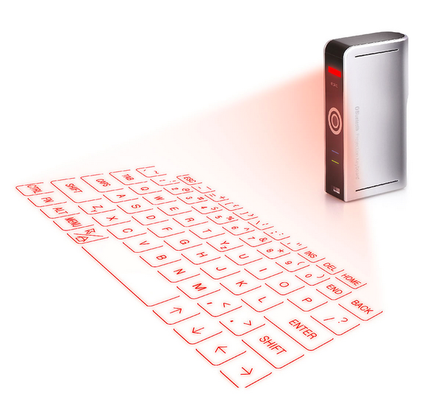 A LASER-PROJECTION KEYBOARD