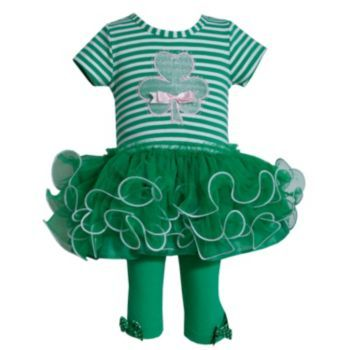 Not Tea but had to have this for my Irish dolly.  Bonnie Jean Shamrock Tunic & Leggings Set - Toddler