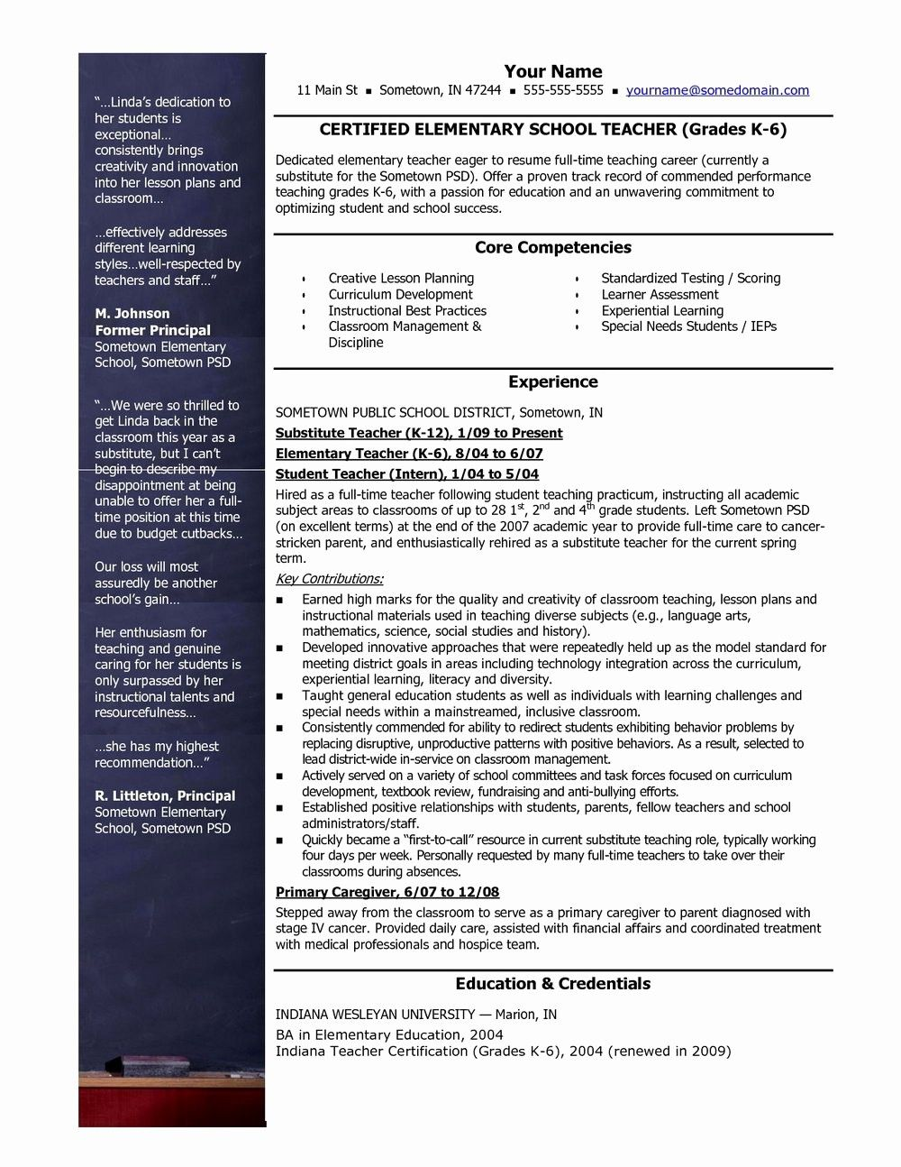 50 beautiful teacher resume templates free in 2020 with