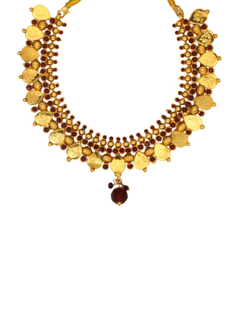 Golden goddess lakshmi necklace set jwst indian things