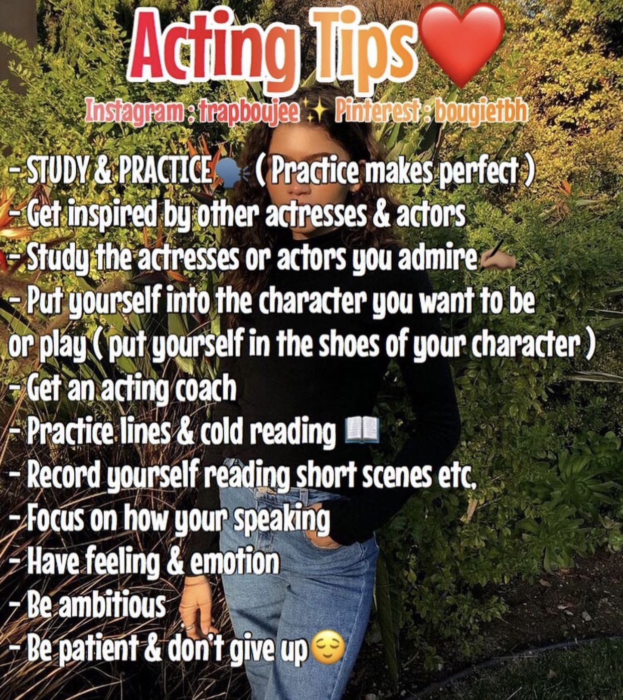 Acting tips acting tips acting monologues baddie tips
