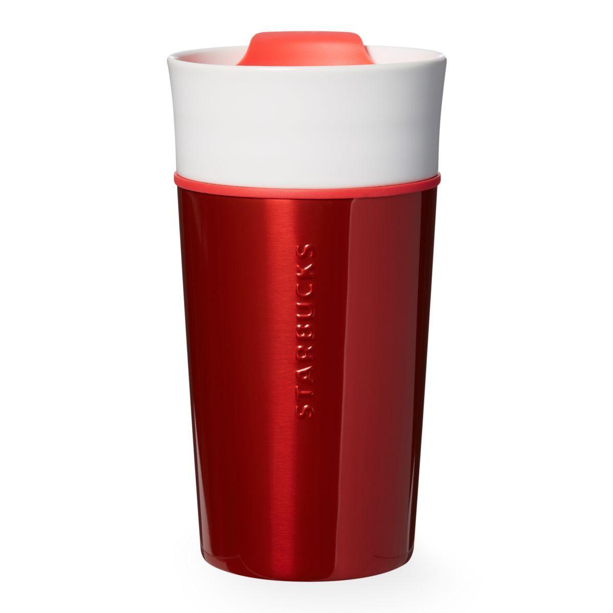 Stainless Ceramic Mug Red 12 Fl Oz Espresso Drinks Mugs Coffee Drinks
