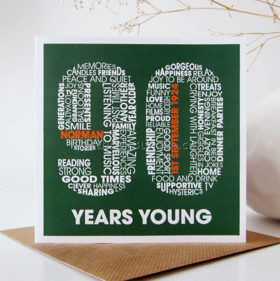 Related image 90th birthday party pinterest 90th birthday birthday personalised card personalized birthday card birthday card for him birthday card for her ninety years old bookmarktalkfo Image collections