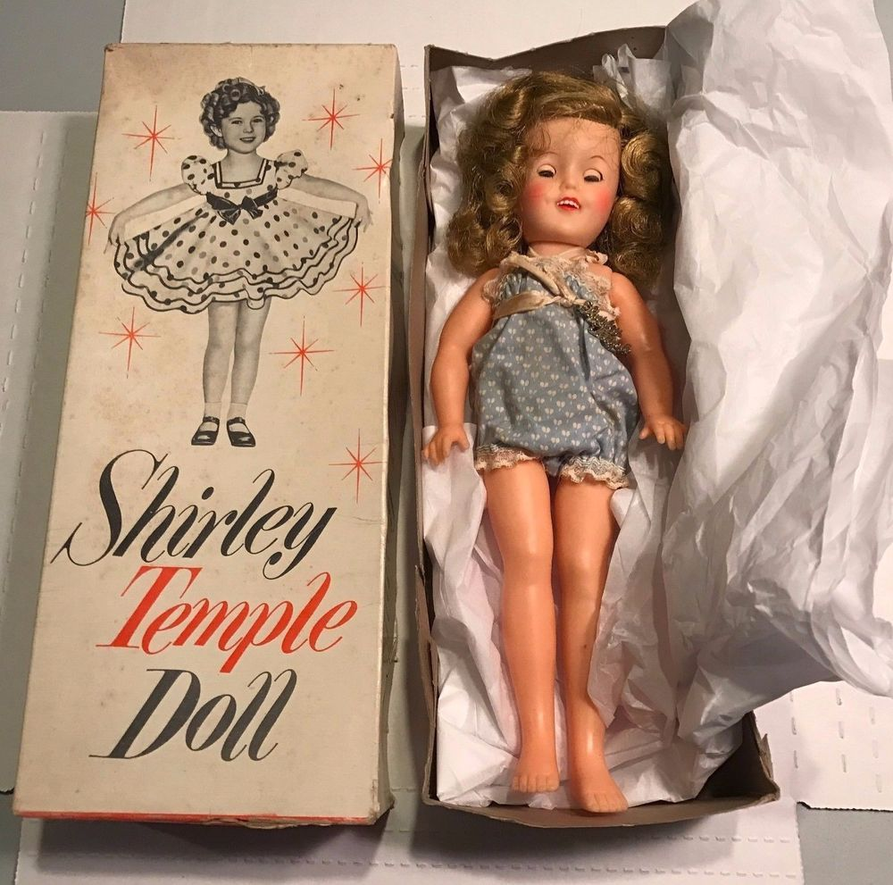 Antique Shirley Temple Doll Ideal No 9500 In Original Box 12 High Shirley Temple Dolls Best Baby Doll