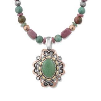 Radiance Green Turquoise Enhancer on Multi-Stone Necklace #CarolynPollack #LanguageofFlowers