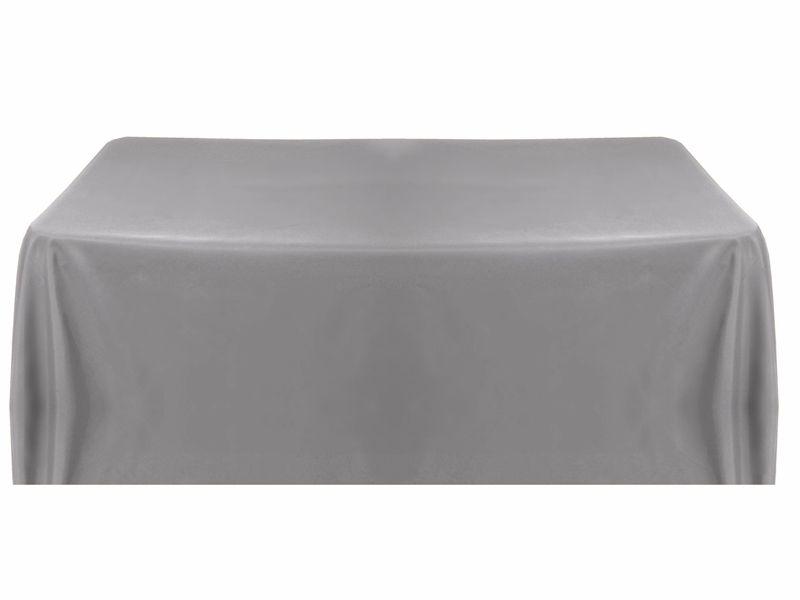 60x126 Silver Polyester Rectangular Tablecloth Silver