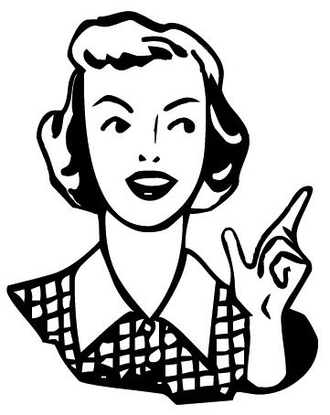Http Www Craftster Org Pictures Data 500 22887 27nov10 Retro Woman Pointing Clipart Bw Jpg Free Clip Art Clip Art Vintage Retro Art