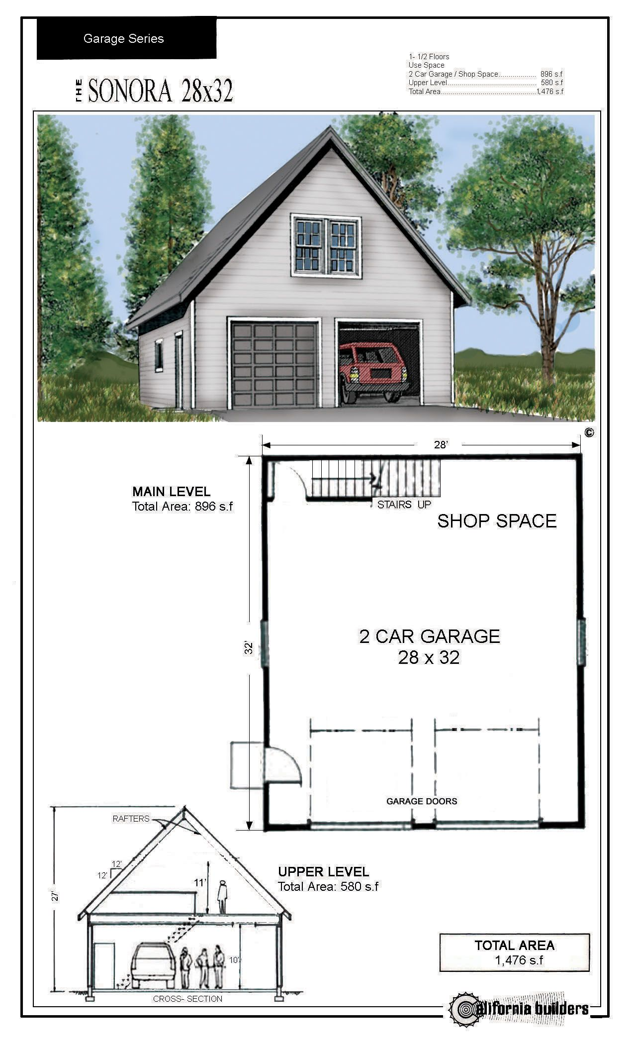 Unique 30x30 Garage Kits 6 30x30 Garage Apartment Plans Garage Design Garage Plans Detached Garage Apartment Plans