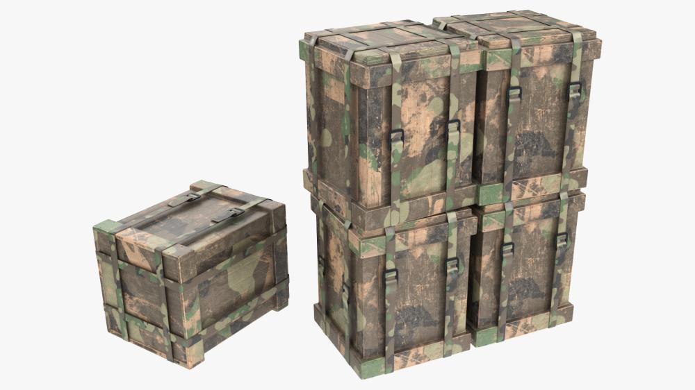Wooden Loot Box 3d Model Pbr Loot 3d Model