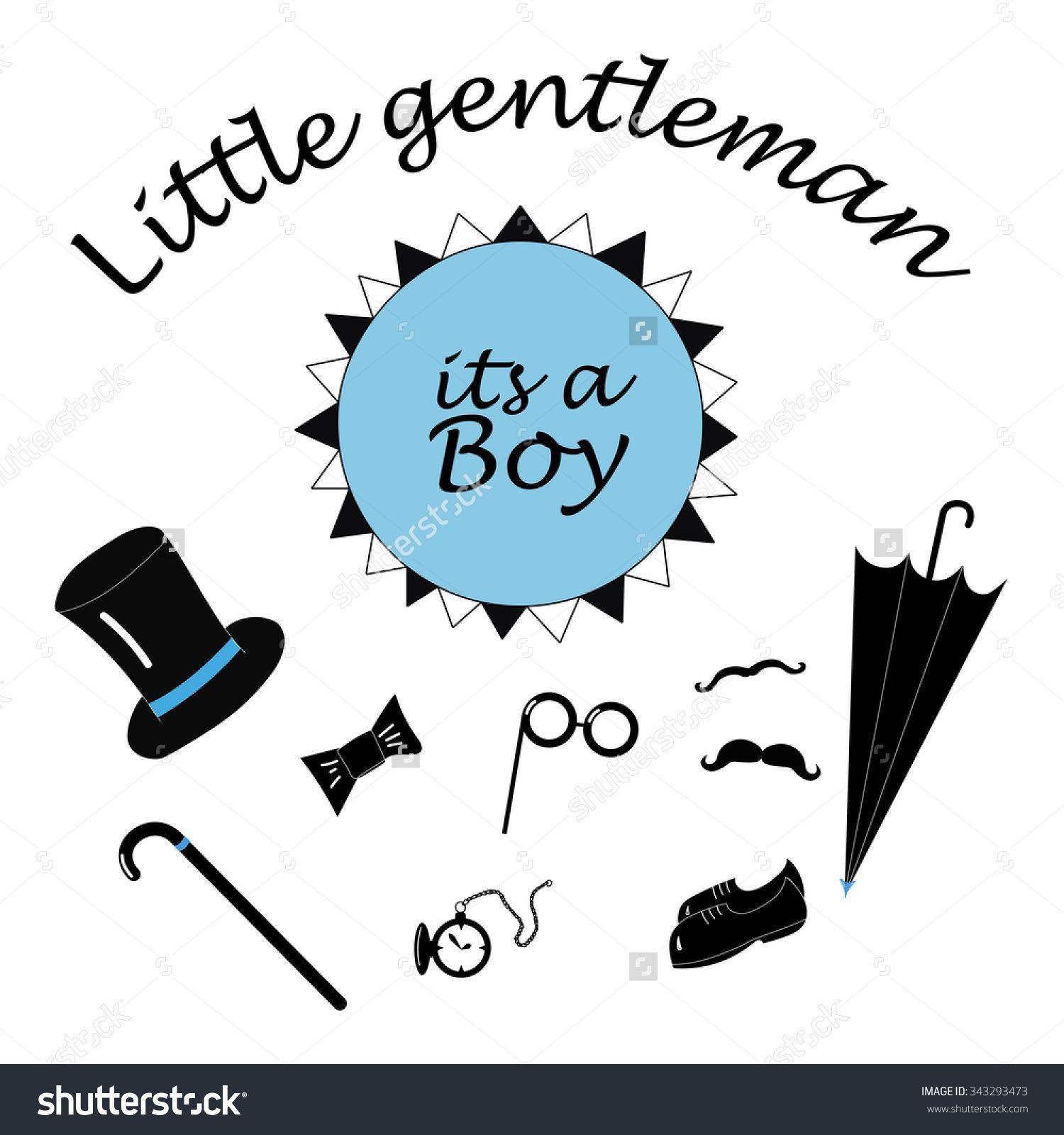 Its A Boy   Little Gentleman Stuff, Baby Shower