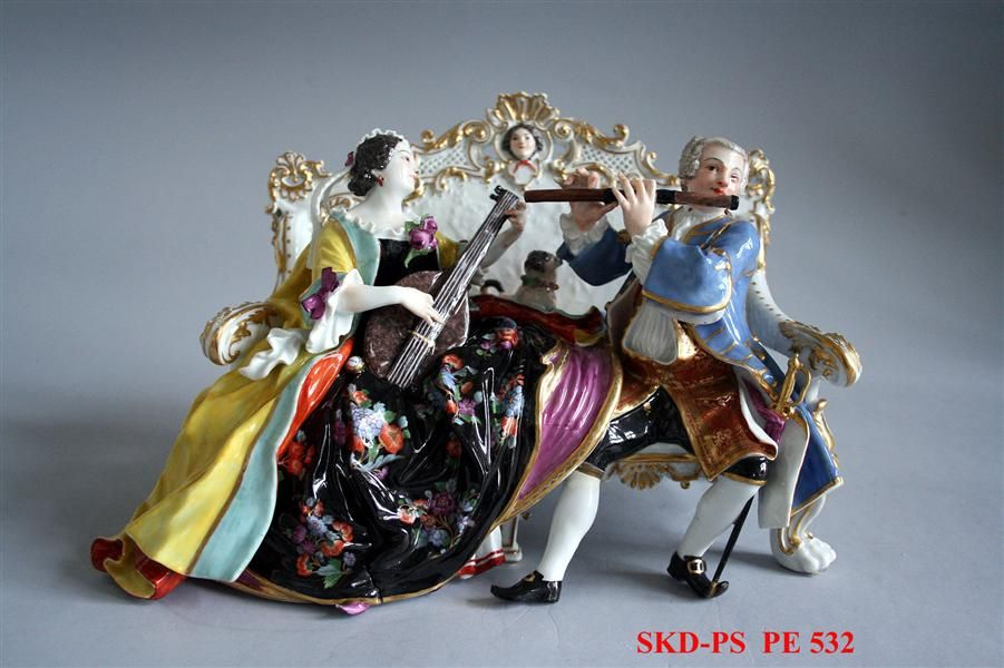sofa group  Kaendler, Johann Joachim (modeller)  Eder, Johann Gottlieb (modeller) Meissen, 1737  porcelain Collection