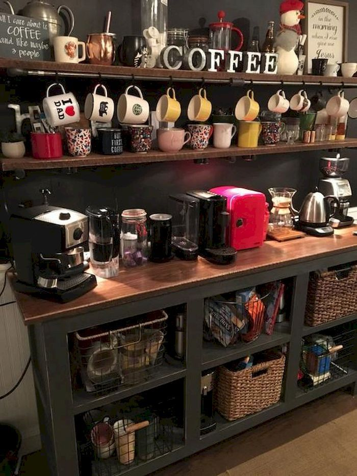 10 Mini Coffee Bar Ideas You Need to Consider For Your Own #coffeebarideas