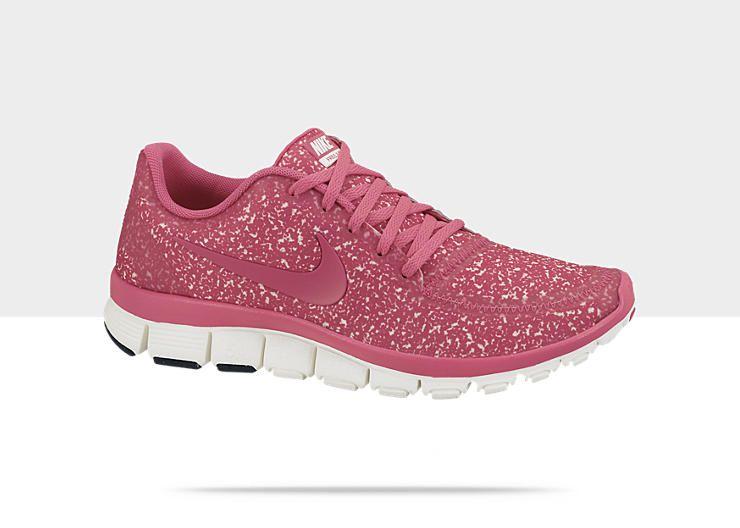 PINK GLITTER! Nike Free 5.0 V4 Womens Shoe d9b847234