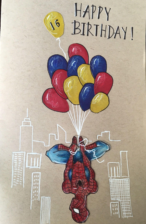 Spider Man Birthday Card Birthday Card Drawing 18th Birthday Cards Happy Birthday Cards