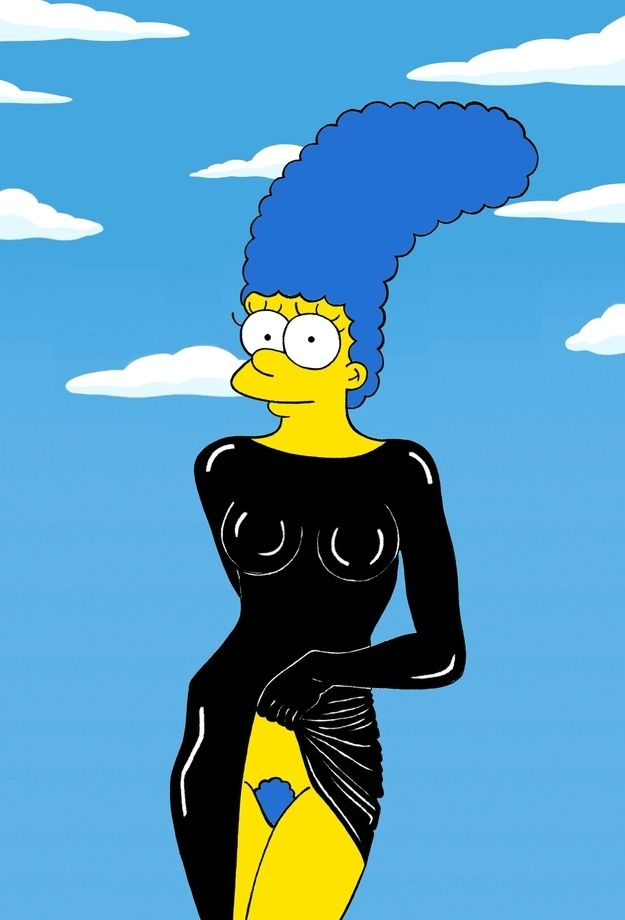Marge simpson models the most iconic fashion poses of all time stephanie seymour buzzfeed and - Marge simpson nud ...