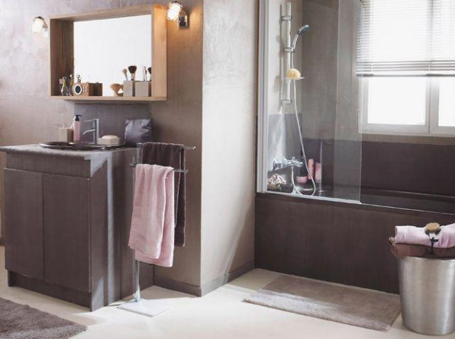 Salle de bains taupe deco bathroom pinterest salle de bains taupe taup - Deco salle de bain taupe ...