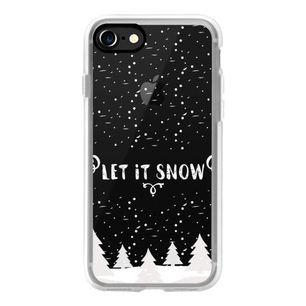 Christmas Phone Case Iphone 7.Let It Snow White Christmas Iphone 7 Case Iphone 7 Plus