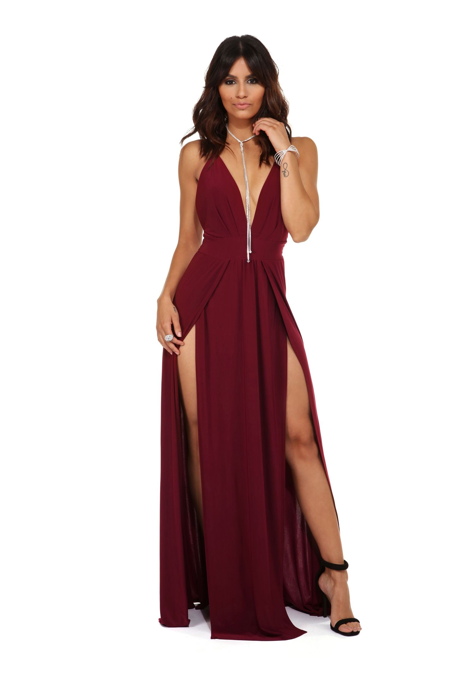 Lila Burgundy Lustful Fit Formal Dress