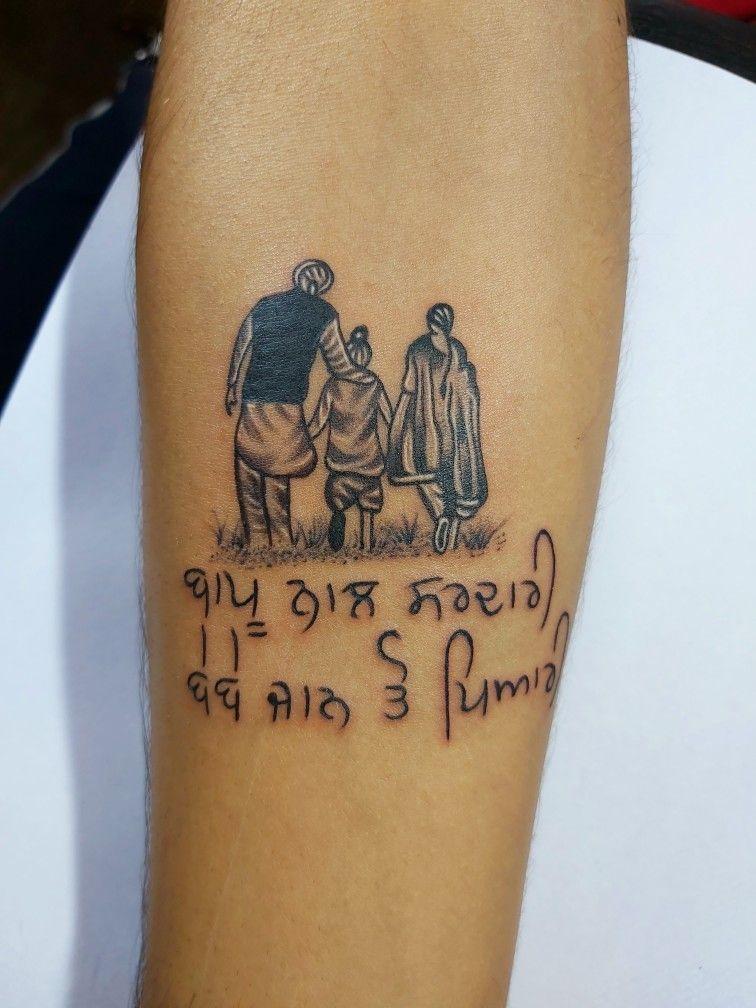 Pin On Pardeep Tattoos Chandigarh Bebe bapu tattoo hd wallpaper