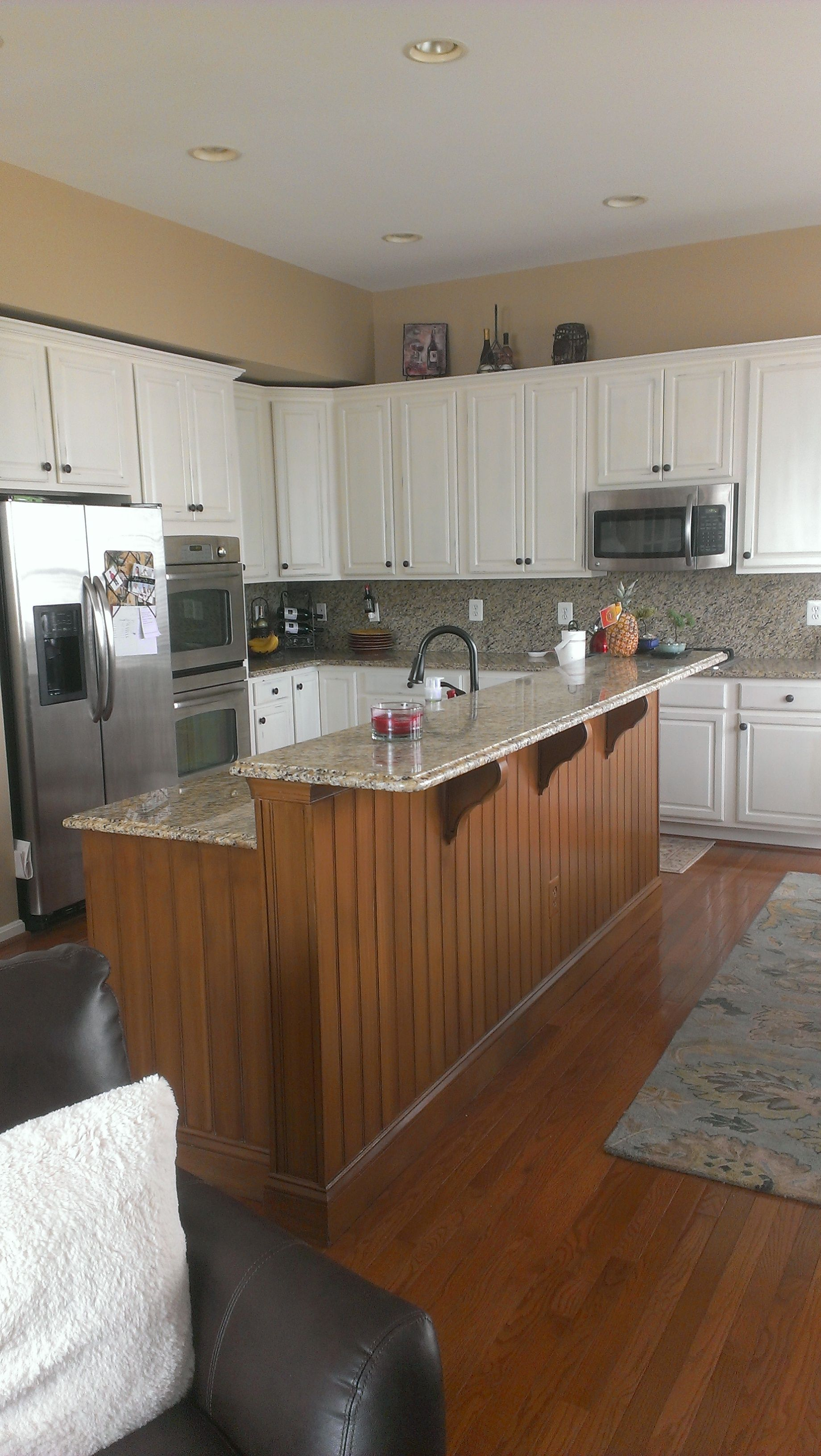 Ace kitchen direct cabinets - From Builders Grade Maple Cabinets Main Cabinetry Finished In A Warm White W Soft Distressing