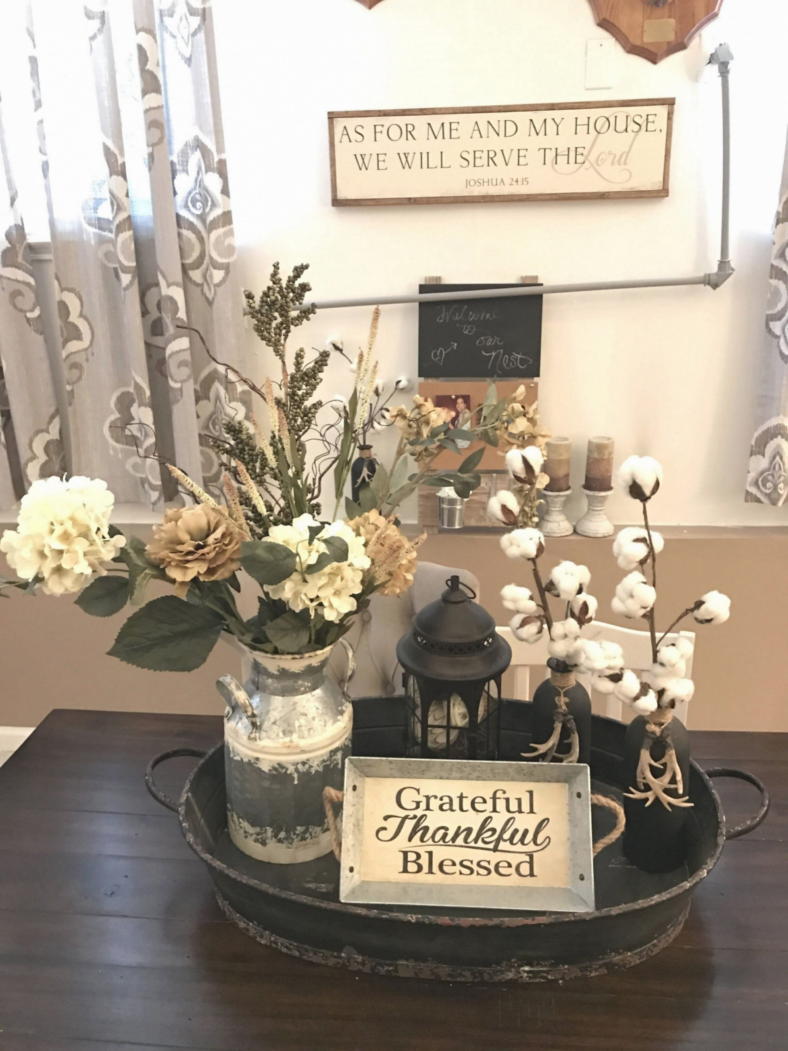 Farmhouse Style Centerpiece For Dining Table Dining Table Centerpiece Farmhouse Table Centerpieces Dining Room Centerpiece