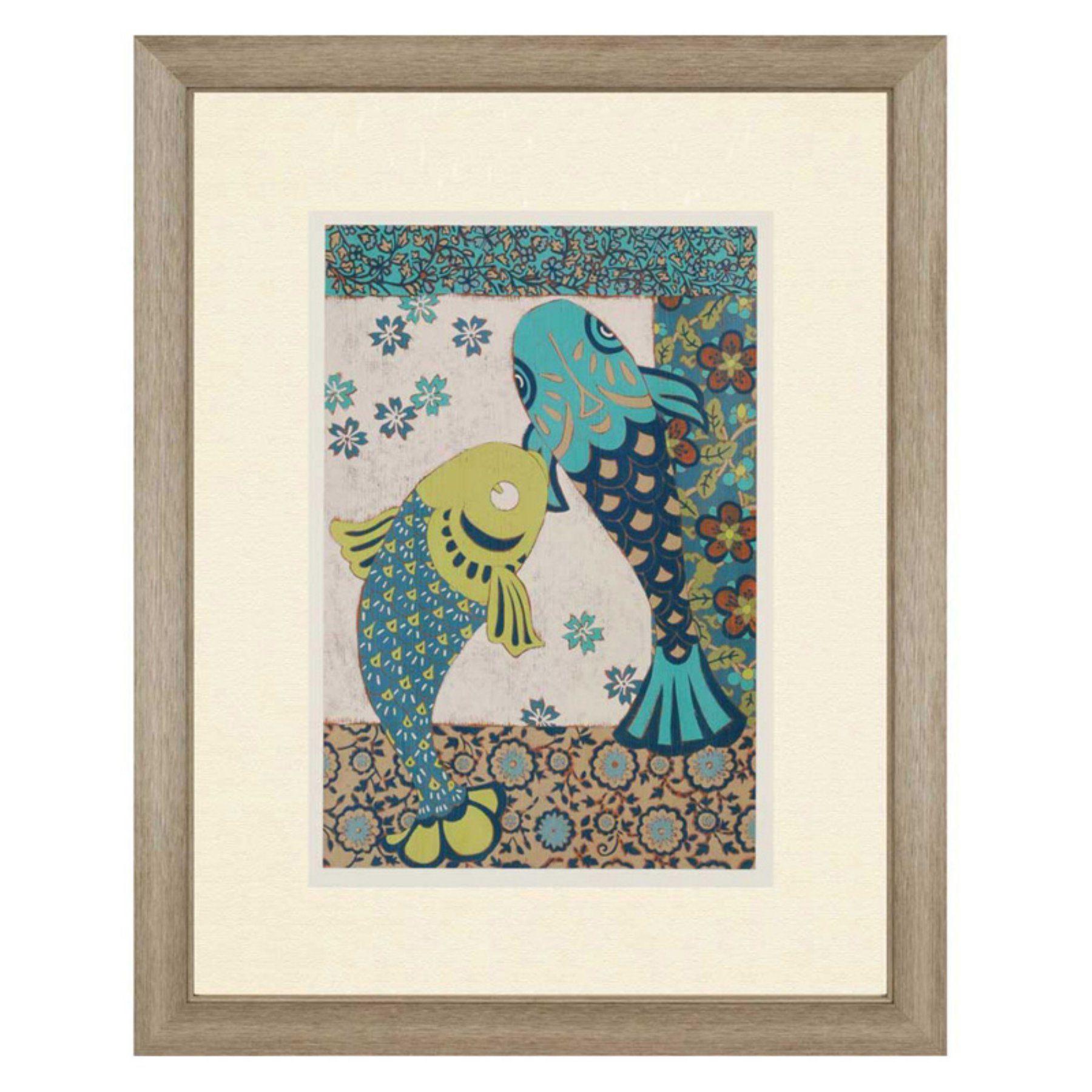 Paragon decor koi ornament ii framed wall art koi and products