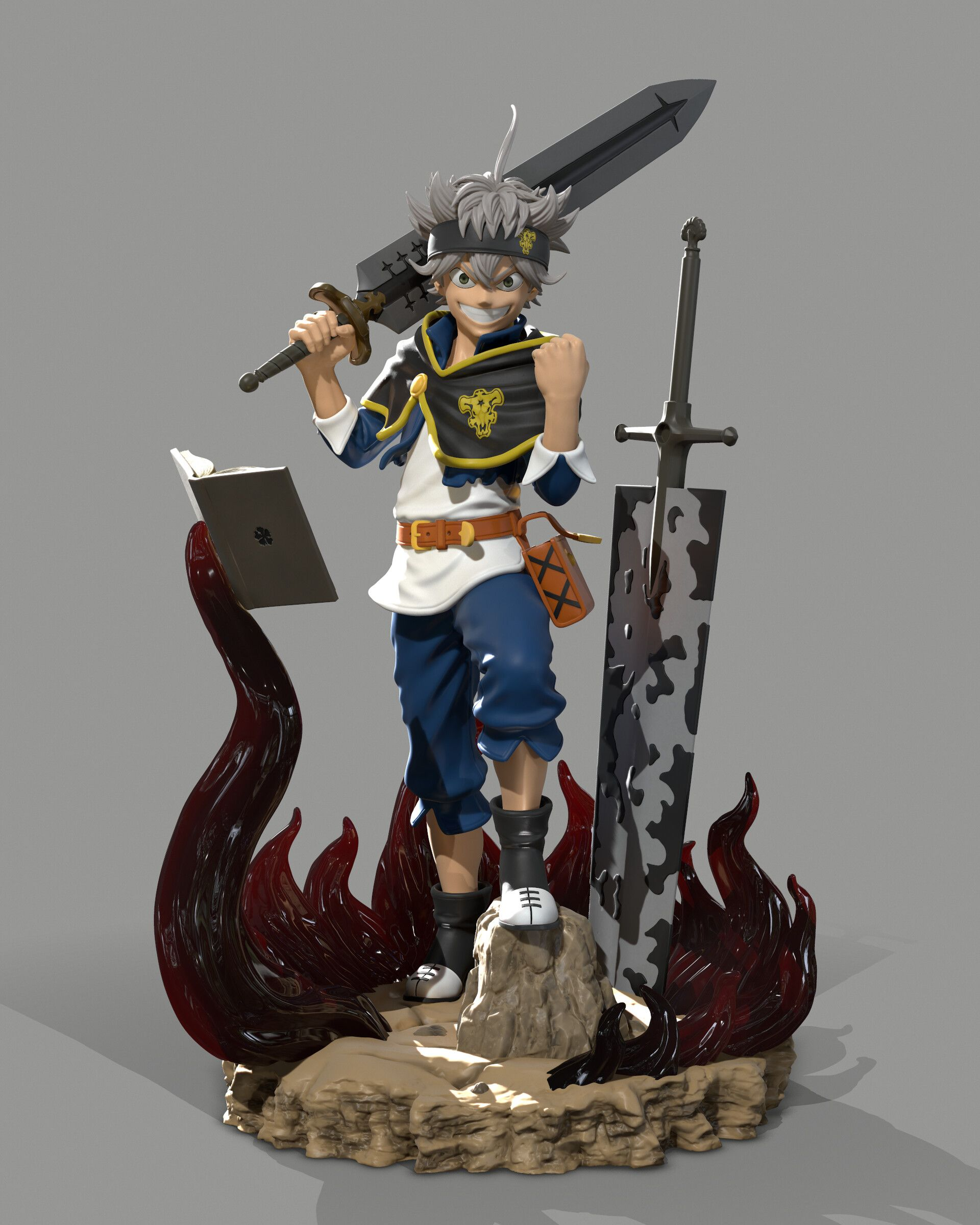 Artstation Asta Black Clover Statue Fan Art Victor Kallahan Black Clover Anime Anime Figures Nendoroid Anime Tons of awesome julius nova chrono phone wallpapers to download for free. artstation asta black clover statue