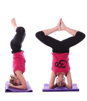 yoga exercises and workouts supported headstand feet