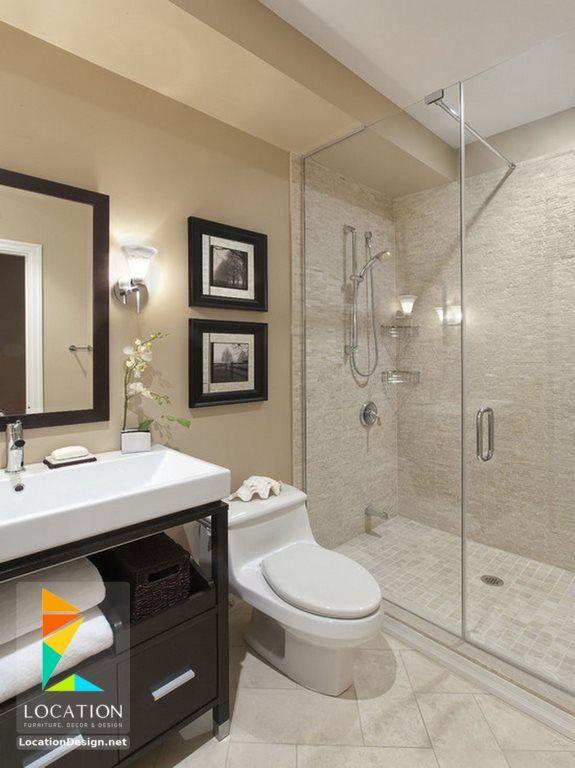 ديكورات حمامات صغيرة المساحة 50 تصميم حمامات مودرن بأفكار رائعة جدا Transitional Bathroom Design Small Bathroom Remodel Bathroom Design Small