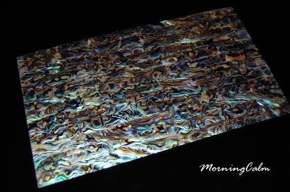 Blue Paua Veneer Sheet Mother Of Pearl Mop Shell Overlay Inlay Luthier Nacre Paua Shell Veneers