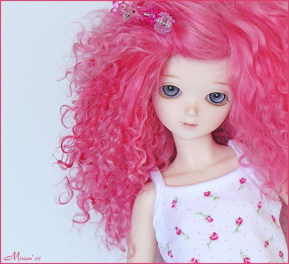 pink curly locks #cute #doll