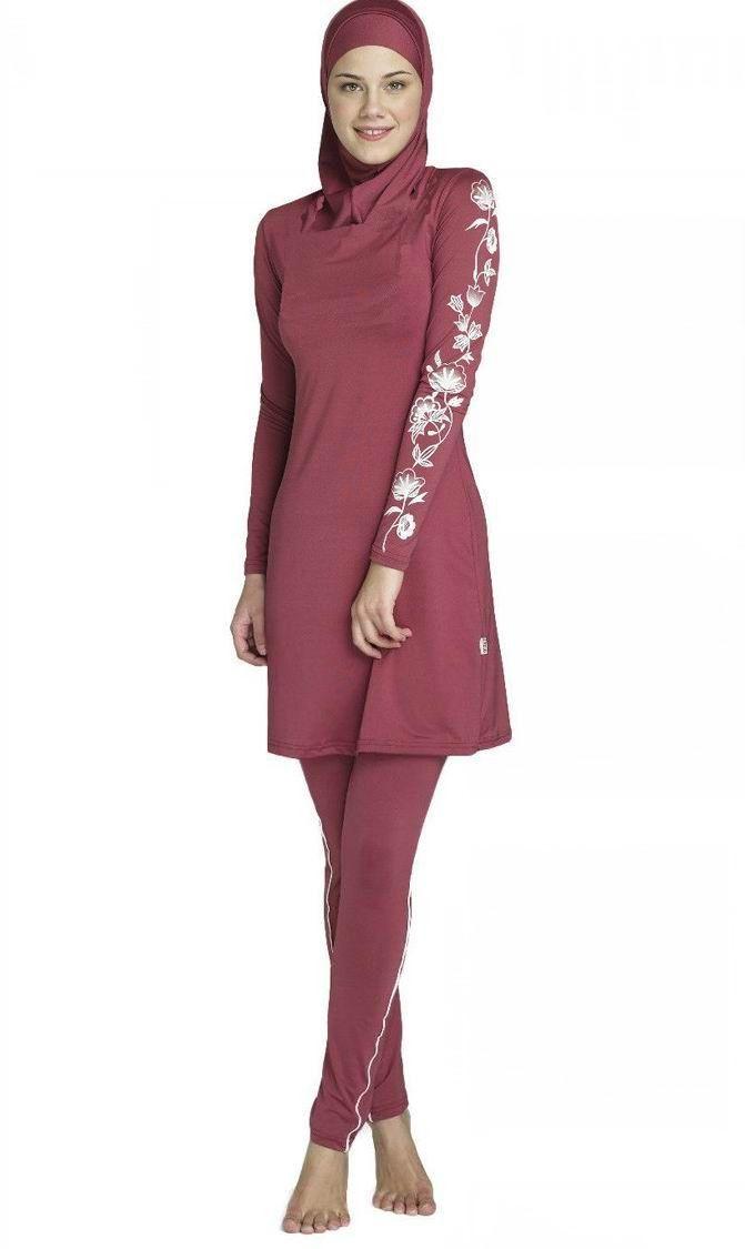 7565e814a26f2 Muslim Swimwear Islamic Swimsuits For Muslima Covered Swimsuits Burkini  Long Sleeve Beach Wear Plus Size S-4XL