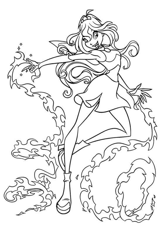 Disegni Da Colorare Disney Winx.130 Disegni Delle Winx Club Da Colorare Libri Di Fiabe Da