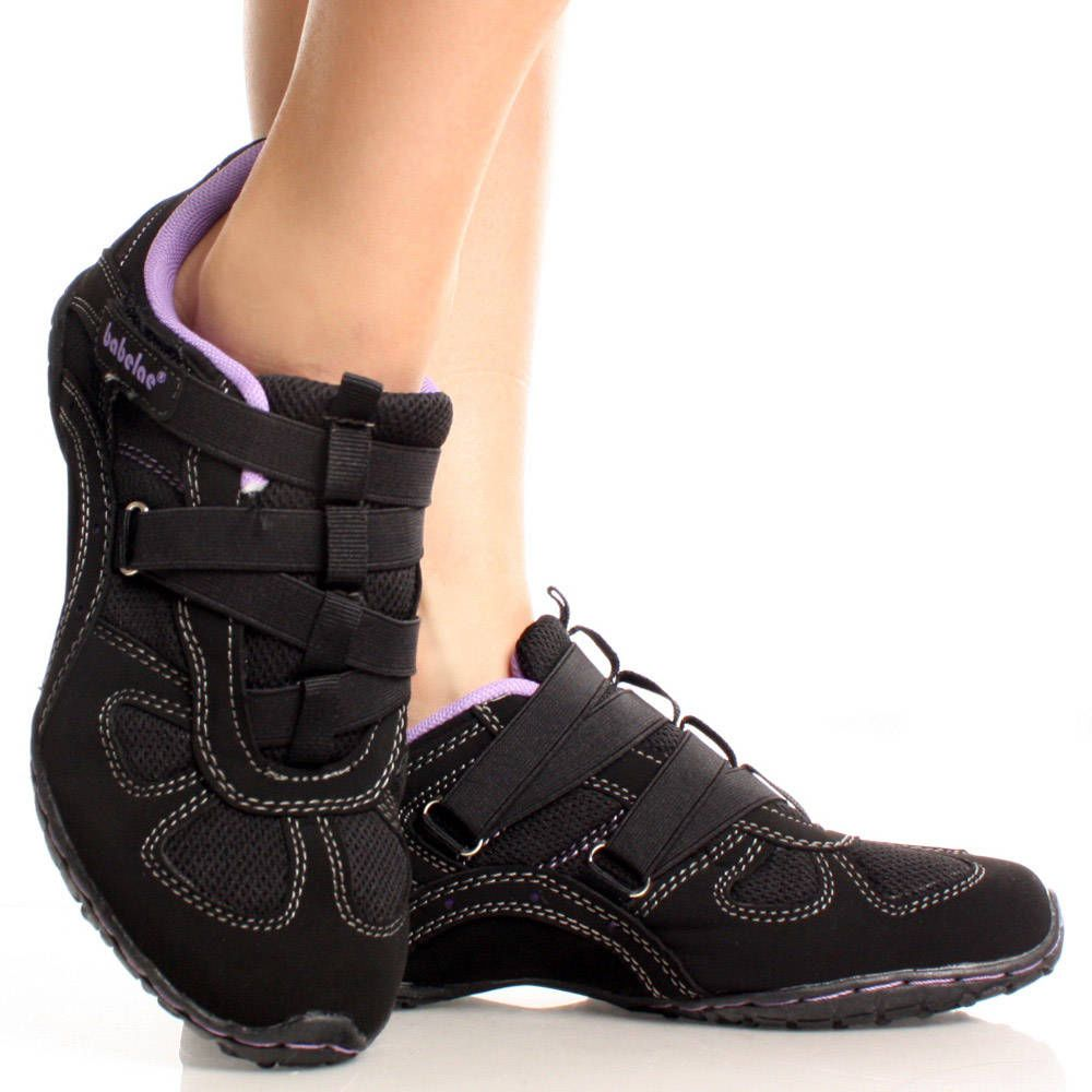 Women Athletic Shoes | ... -Suede Velcro Laceless Running ...