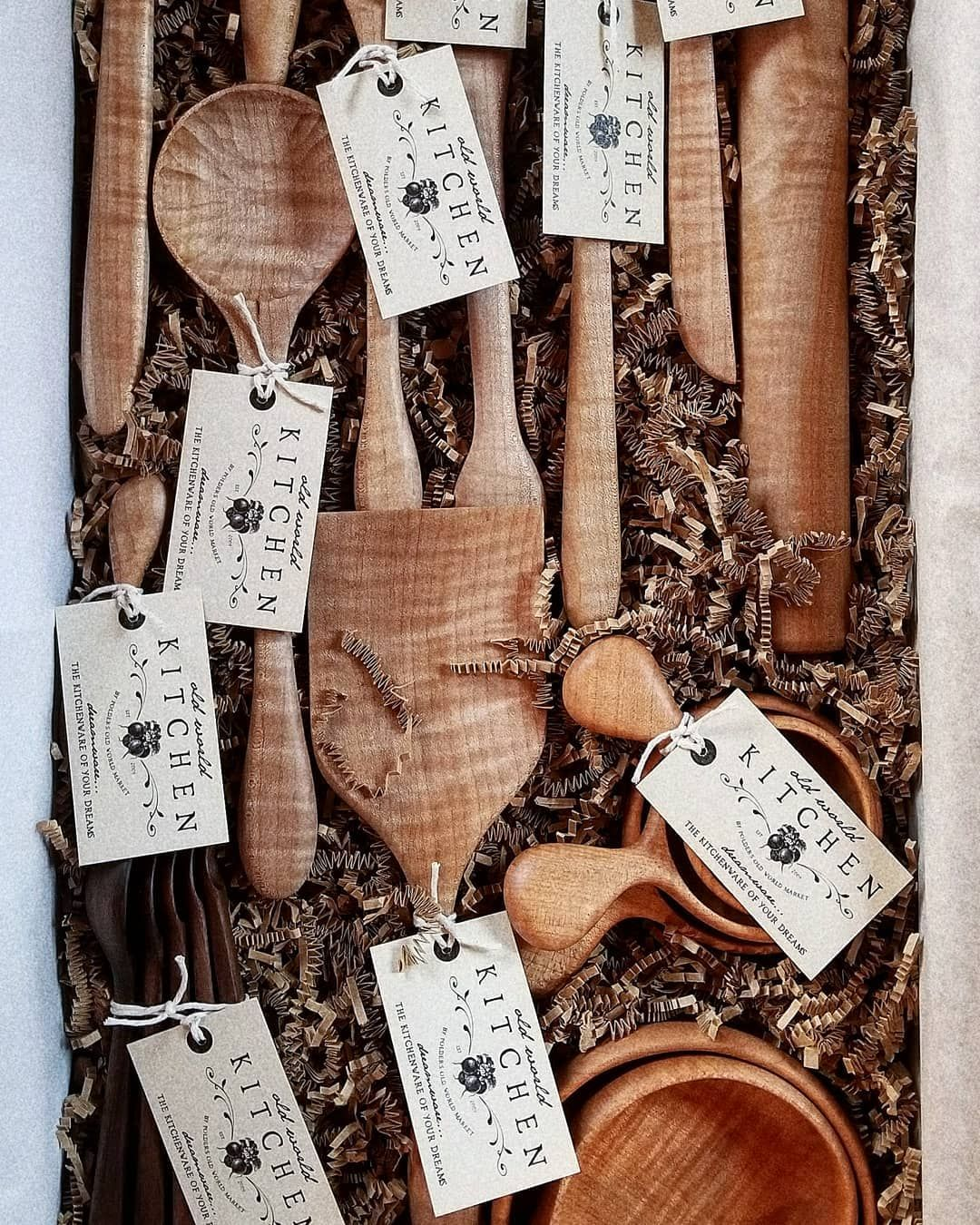 Look At All Of These Beautiful Wooden Kitchen Utensils Ready To Go To Their Hopefully Elated Purchaser Dreamware Handcraft Beautiful Box Old World Market