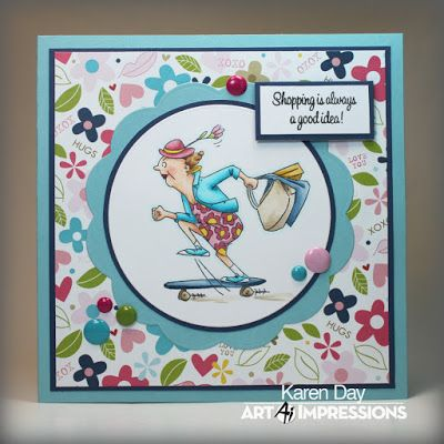 Art Impressions Rubber Stamps: available in Michaels stores (Sku # SC0678): handmade card.