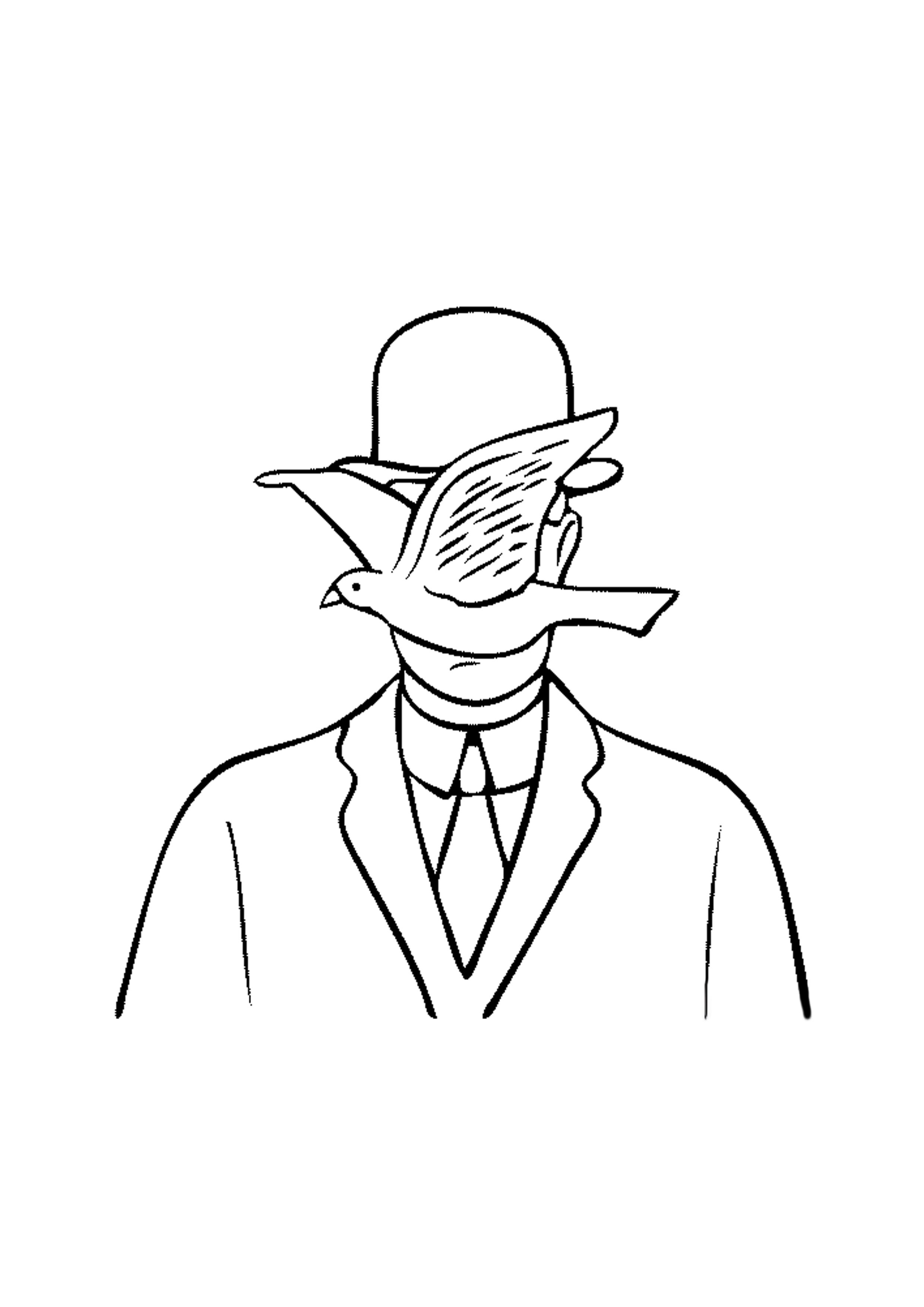 rene magritte coloring pages - photo#20