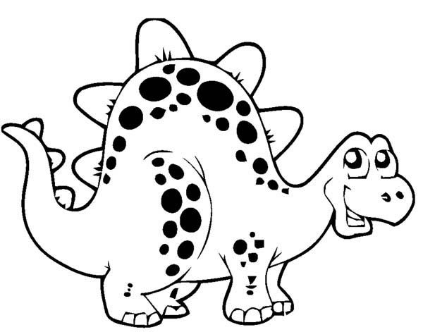 cute cartoon dinosaurs cute thyreophora in cartoon in dinosaur coloring page free - Cartoon Dinosaur Coloring Pages
