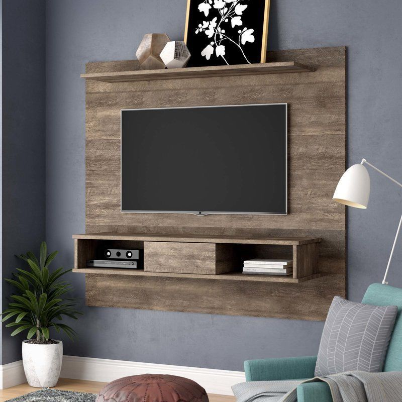 Tv Kast 70 Cm.Rustic Floating Entertainment Center Board Tv Wall Mount 70 In