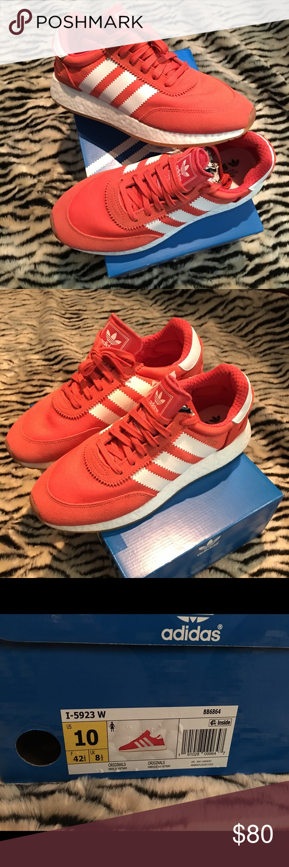 Women s Adidas I-5923 Shoes Women s Adidas Originals I-5923 shoes. Size 10.  In color Trace Scarlet  Cloud White  Gum. Brand new with tags. adidas Shoes  ... 8c8ddca1e