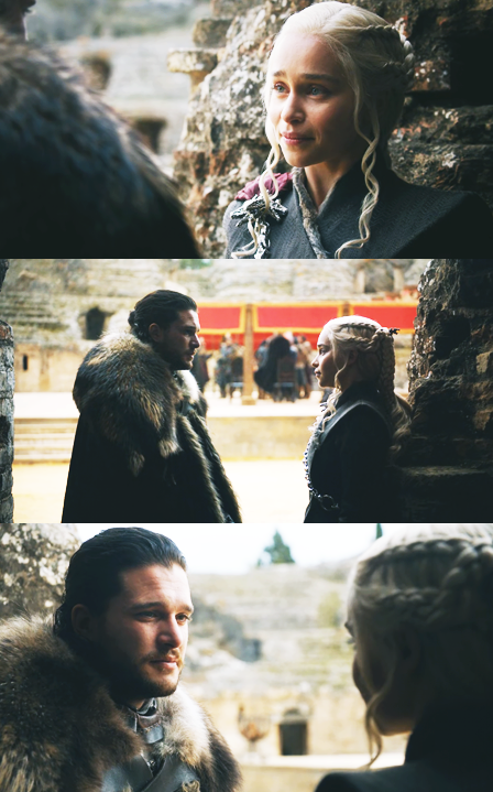 Jon And Daenerys In The Dragon Pit Kings Landing Game Of