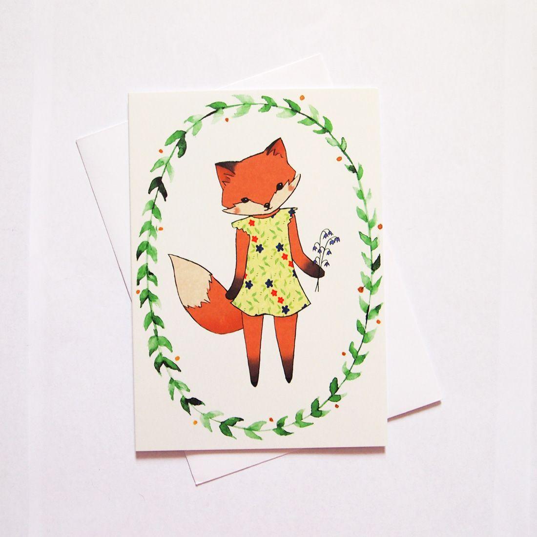 Lady Fox Greeting Card