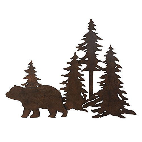 Bear Forest 3d Metal Wall Art For More Information Visit Image Link This Is An Affiliate Link Homedeco Metal Tree Wall Art Metal Tree Tree Wall Art Diy