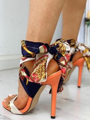 ribbonwrapped stilettos in 2020  fashion high heels